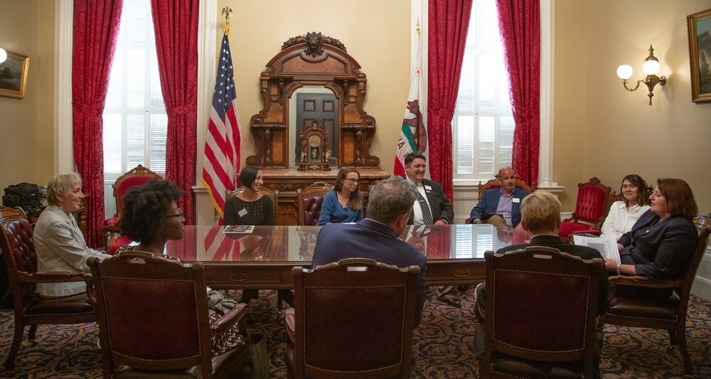 Pictured above, Senate Pro Tem Toni Atkins meeting with San Diego Delegation led by CFTA Board President Victoria Hamilton.